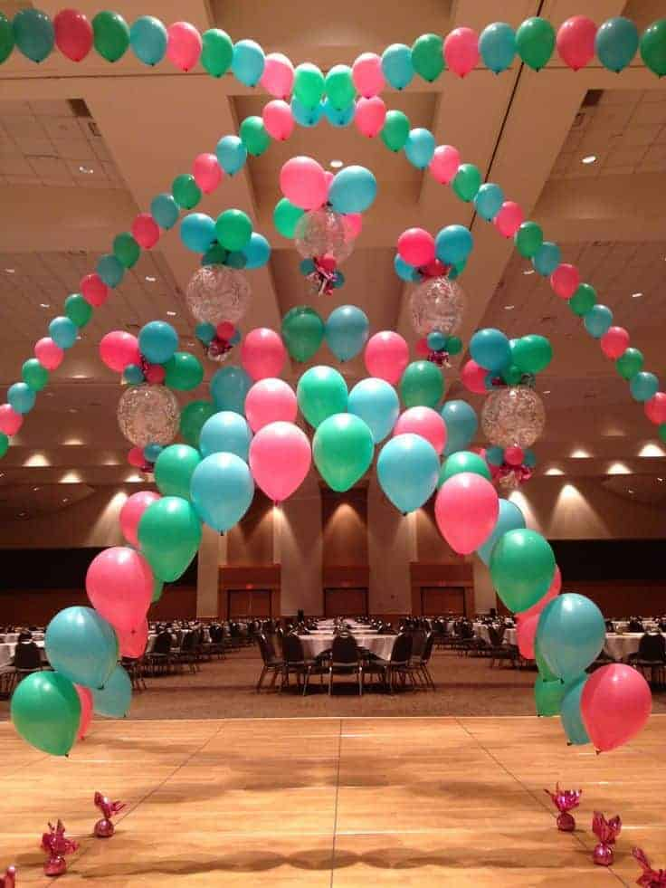 Balloon arches in Calgary