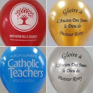 Custom balloons holidays