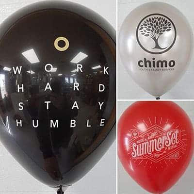 logo imprimé sur ballons