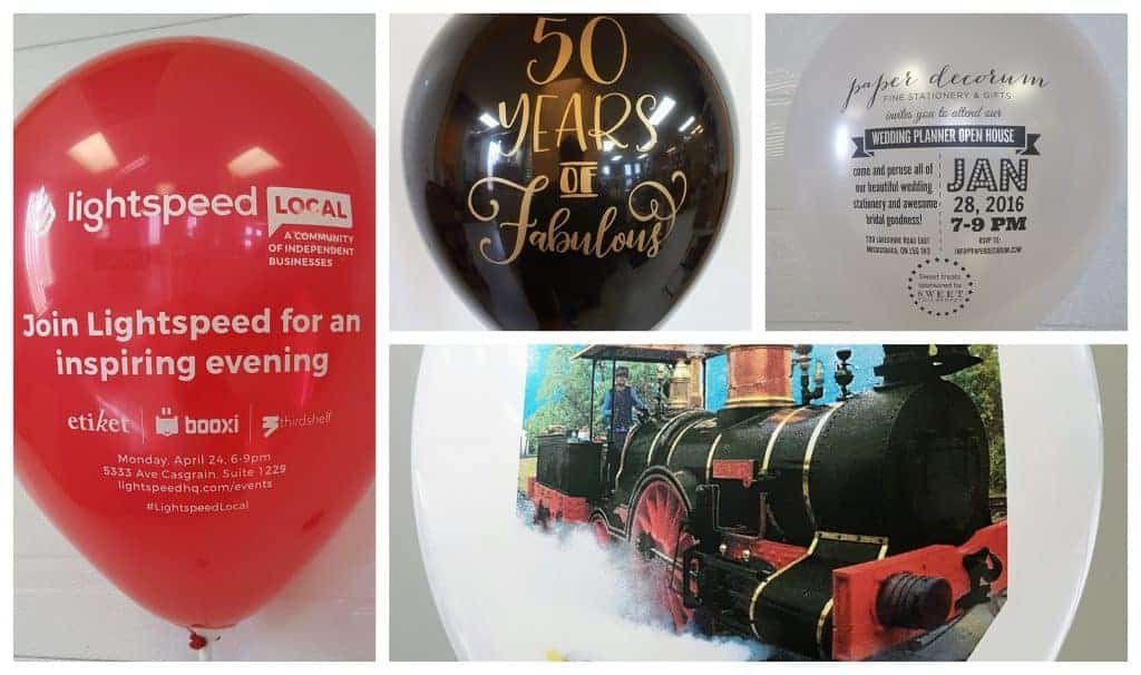 custom balloon announcements of upcoming corporate events